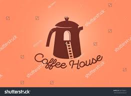 coffee house logotype design tea house stock vector 561163612