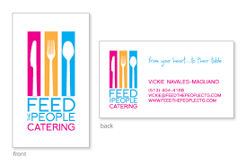 Catering Calling Card Design Spencer Photography U0026 Design Feed The People Catering Logo