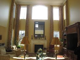 High Ceiling Living Room by Best Curtains For High Ceiling Living Room Idea For House