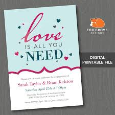 Invitation Engagement Card Engagement Party Invitation Engagement Party Invitations Packs