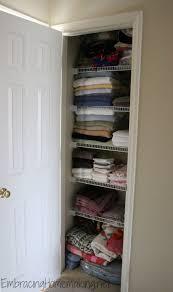 organizing a linen closet embracing homemaking