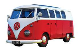 volkswagen van transparent airfix j6017 airfix quick build vw camper van