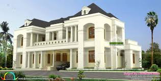 house plan luxury colonial style indian home design kerala home