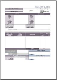 Bill Of Lading Template Excel Free Bill Of Lading Template For Excel 2007 2016