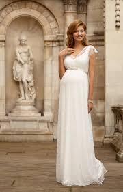 pregnancy wedding dresses kristin maternity wedding gown ivory maternity wedding