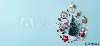 holidays composition on papaer background