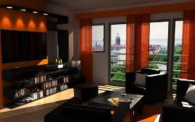 Brown And Orange Living Room Home Design Ideas - Orange living room design