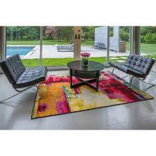 Geometric Outdoor Rug Modern Rug Contemporary Area Rugs Multi Geometric Swirls Lines