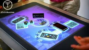 Touch Screen Coffee Table by New Invention Can Turn Any Surface Into A Touch Screen Youtube