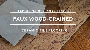 faux wood grained ceramic tile flooring desert tile grout care