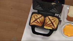 Which Sandwich Toaster Kitchen Couture Sandwich Maker W Nonstick Plates Page 1 U2014 Qvc Com