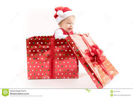 baby inside a gift box stock photos image 9202163