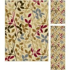 Bathroom 3 Piece Rug Set Floral Rug Sets Area Rugs Rugs The Home Depot
