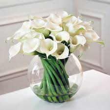 silk flower arrangements contemporary calla lily in glass winward home finest permanent