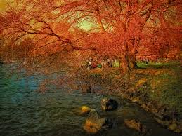 thanksgiving mobile wallpaper wallpapers predominant 999933 color lake fall trees golden