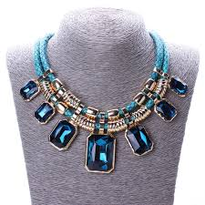 crystals fashion necklace images Buy online necklace set exquisite trendy necklace with blue jpg