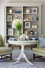 Built In Cabinets Living Room by Best 25 Wallpaper Bookshelf Ideas On Pinterest Bookcase