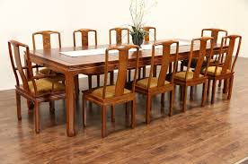 Rosewood Dining Room Set Sold Asian Vintage Carved Rosewood Dining Set Table 3 Leaves
