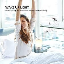 tecboss bedside l wake up light bedside l wake up light w sunrise simulation alarm clock 5