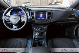 2015 Chrysler 200s Interior 2015 Chrysler 200s U2013 Review Woman And Wheels