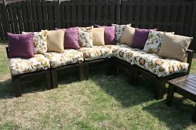 Outdoor Wood Sectional Furniture Plans by Furniture Sectional Sofa With Memory Foam Padded Seat As Well As