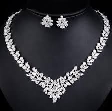 diamond set mykay classic flower marquise cz diamond bridal set mykay jewelry
