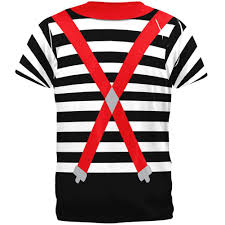 Halloween Hawaiian Shirt by Halloween French Mime Costume All Over T Shirt U2013 Oldglory Com