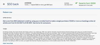 another opportuity to purchase airbnb expired targeted amex offer 50 150 at airbnb excludes