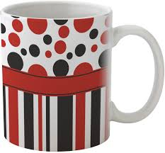 red u0026 black dots u0026 stripes coffee mug personalized youcustomizeit