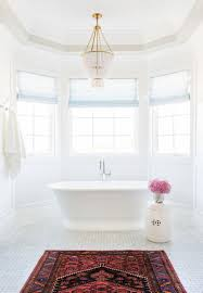 Chandelier Above Bathtub Pretty Bathroom With Hanging Chandelier Over Freestanding Tub Near