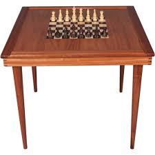 large wood chess table ode to wood