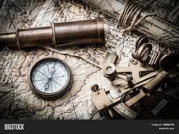 Old Map Background Vintage Still Life Compass Sextant Image U0026 Photo Bigstock
