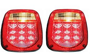 universal led tail lights led rectangular red jeep trailer tail light universal stud mount