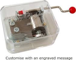 Engraved Music Box Hand Cranked Music Boxes Custom Music Boxes Musical Gifts From