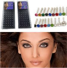 piercinguri online wholesale mixed nose studs jewelry piercing diy nose rings