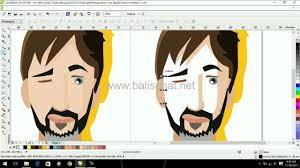 tutorial corel draw menggambar kartun how to make cartoon beard man in coreldraw x6 vector art part 4