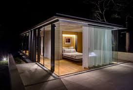 Beautiful Lighting Glass Pavilion Takes The Place Of An Orchard But Keeps Its Memory