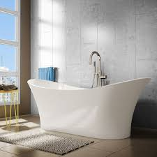 a u0026e bath and shower evita 69 inch resin oval freestanding bathtub