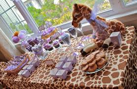 giraffe print party supplies for baby showers bridal showers and