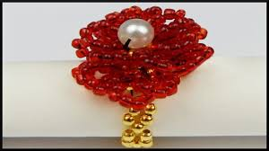 diy blumen rocailles perlenring flower beaded ring