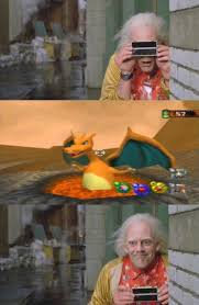 Doc Brown Meme - doc brown snaps a charizard pokémon know your meme