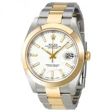 rolex white gold oyster bracelet images Rolex datejust 41 white dial steel and 18k yellow gold oyster jpg