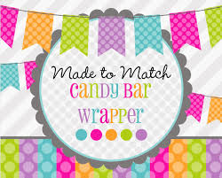 made 2 match printable candy bar wrapper birthday favors