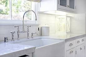 bridge faucet kitchen farmhouse sink transitional kitchen titan and co
