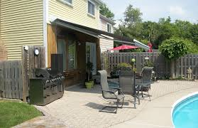 Canadian Tire Awnings Solid Grey Awning By The Pool Side Rolltec Retractable Awnings