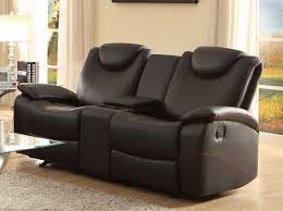 Reclining Sofa With Center Console Homelegance Talbot Glider Reclining Seat With Center