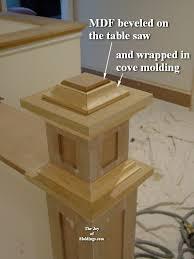 Interior Newel Post Caps How To Build Newel Post 100 Part 2 The Joy Of Moldings Com