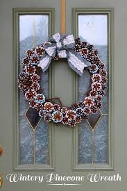 pinecone wreath wintery pinecone wreath think crafts by createforless