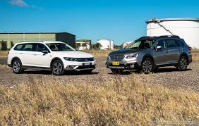 subaru outback 2016 2016 subaru outback vs volkswagen passat alltrack comparison