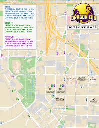 Map Of Midtown Atlanta by Shuttle Buses Dragoncon